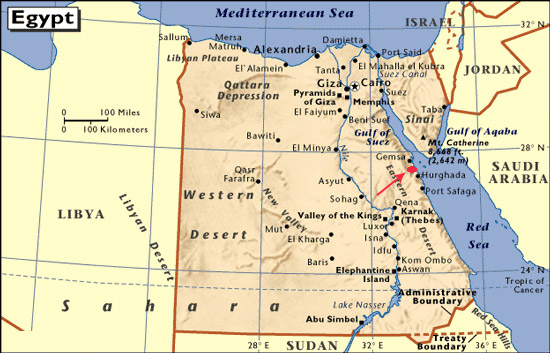 Karte El Gouna